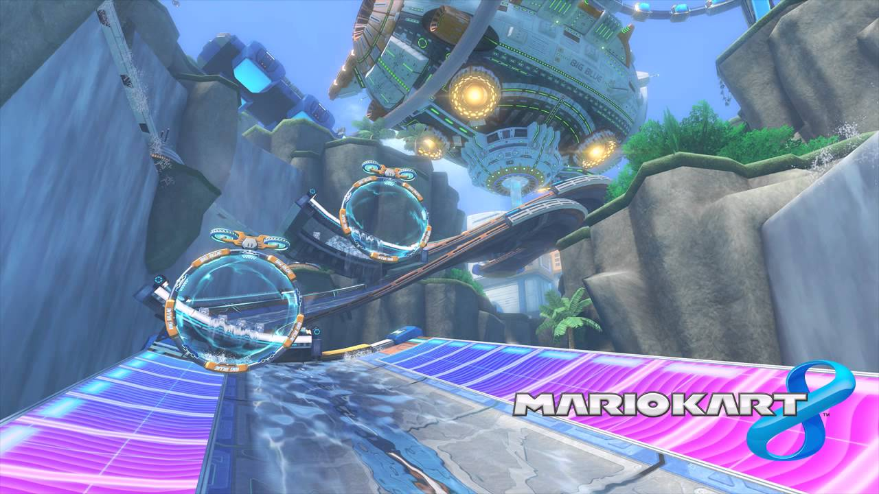 Weekly Video Game Track: Big Blue – Mario Kart 8